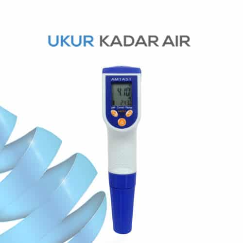 Pengukur pH/ORP/Conductivity/TDS/Salt/Temp Tahan Air AMT03