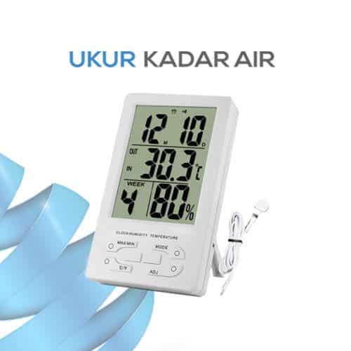 Pengukur Suhu Ruangan Dilengkapi dengan Jam TH96 - Ukur Kadar Air 5d011a13b9