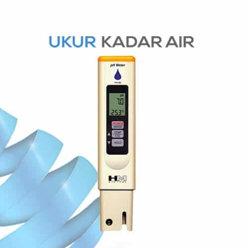 Pengukur pH dan Temperature 2 in 1 seri PH-80