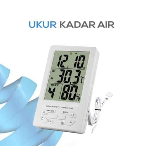 Hygro Thermometer Clock TH95