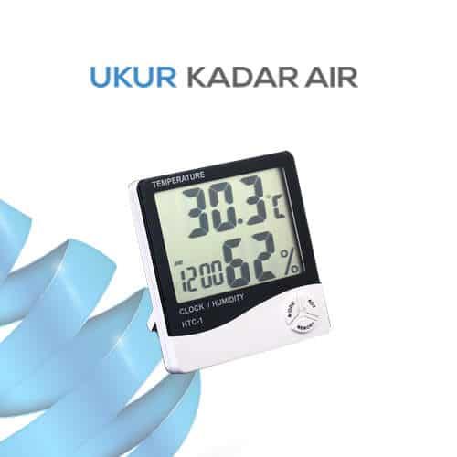 Alat Pengukur Suhu Digital Hygrometer Portabel seri HTC-1