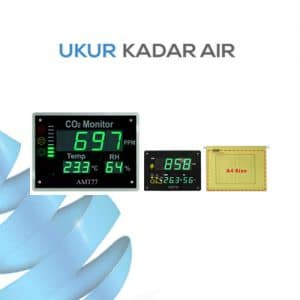 Monitor Kualitas Udara Indoor CO2 Temperature RH Monitor; IAQ (Indoor Air Quality) AMT77